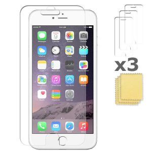 3-pack Apple iPhone 6 6S skärmskydd Screenprotection putsduk